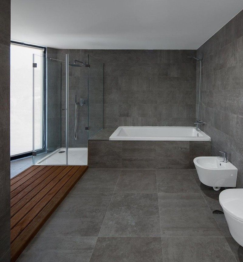 Palette profile a gray white and wood bathroom by pedro henrique bathrooms pinterest - Moderne toiletfotos ...