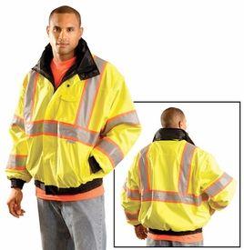 SKY Workwear Mens Denver High Visibility Waterproof Safety Jacket