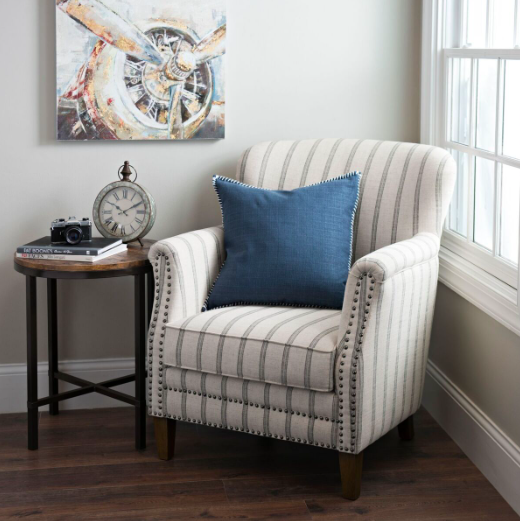Flax Pinstripe Accent Chair For The Home Accent Chairs