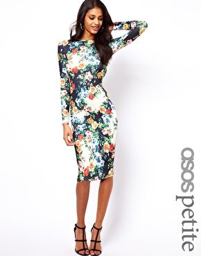 ASOS PETITE Exclusive Bodycon Dress In Floral Print.. Love the ...