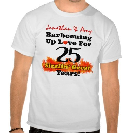 BBQ Love 25th Silver Wedding Anniversary Shirt In our offer link above you will seeDeals          	BBQ Love 25th Silver Wedding Anniversary Shirt Here a great deal...