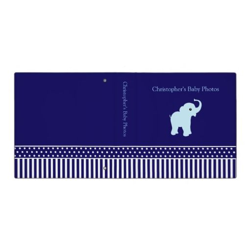 Photo Album for baby boy, customizable, binder