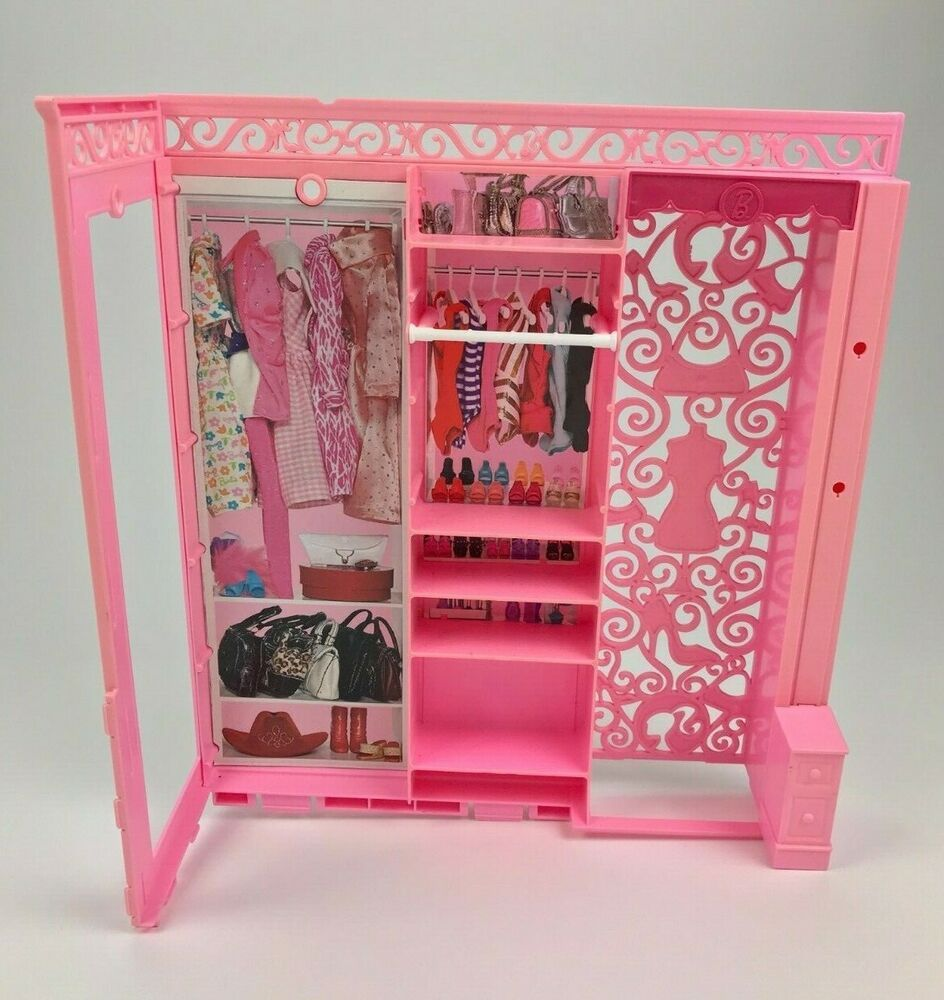 Barbie Dream House 2013 Bedroom Closet Wall Replacement Parts Pieces Toy Pink Barbie Barbie Dream House Barbie Dream Wall Closet