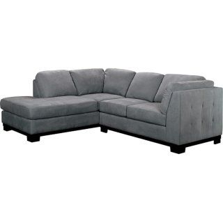 Enjoyable Oakdale 2 Piece Microsuede Sectional W Left Facing Chaise Pabps2019 Chair Design Images Pabps2019Com