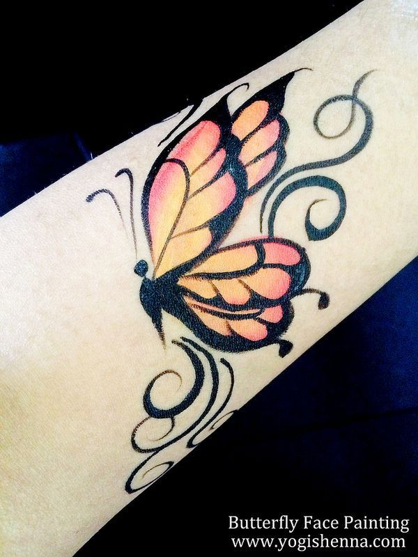 Butterfly Face Painting Tattoo Design Face Painting Pinterest