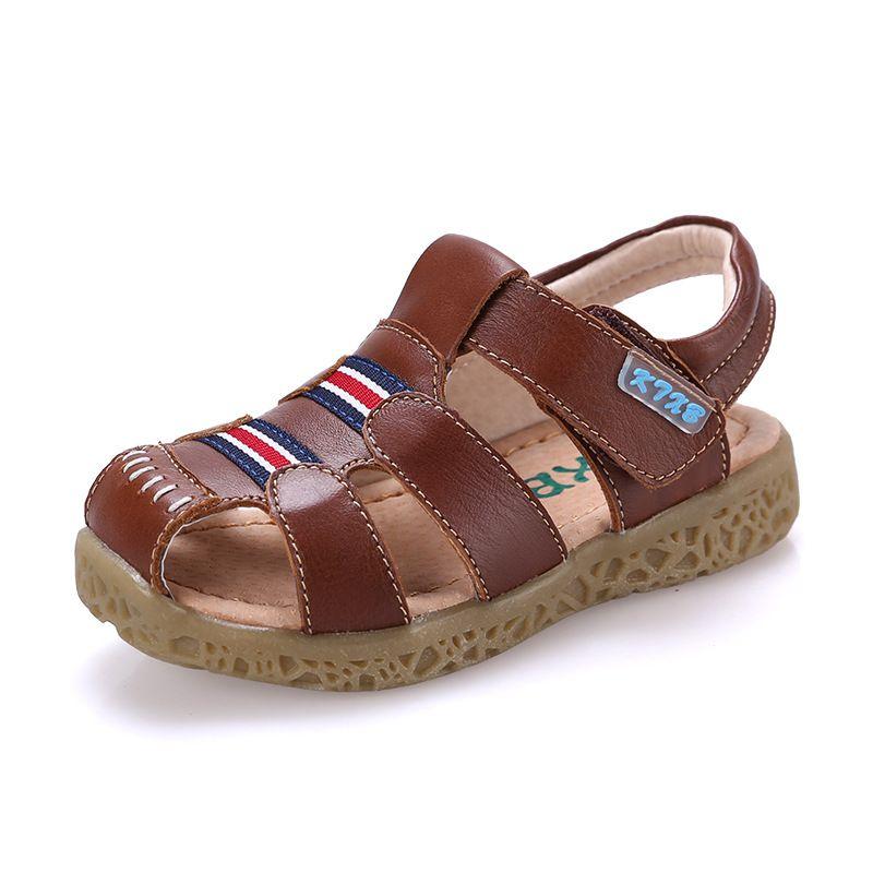 Ecco Lite Infants Sandal Marine/Meadow Fir/Te - Zapatos de primeros pasos de cuero bebé - unisex, color marrón, talla 20