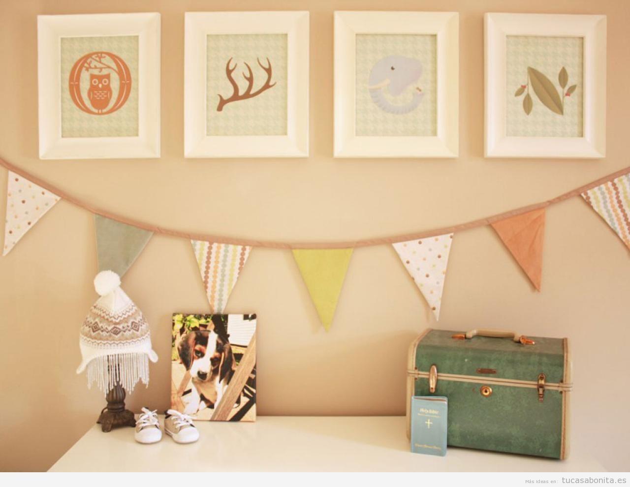 ideas-decorar-habitacion-bebe-niños-bonito-barato-6.jpeg (1280×990 ...