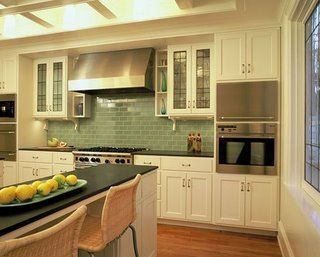 View fresh Impressive Green Backsplash Green Subway Tile Backsplash  remodeling ideas in various visuals from Jean Green, home improvement  expert.