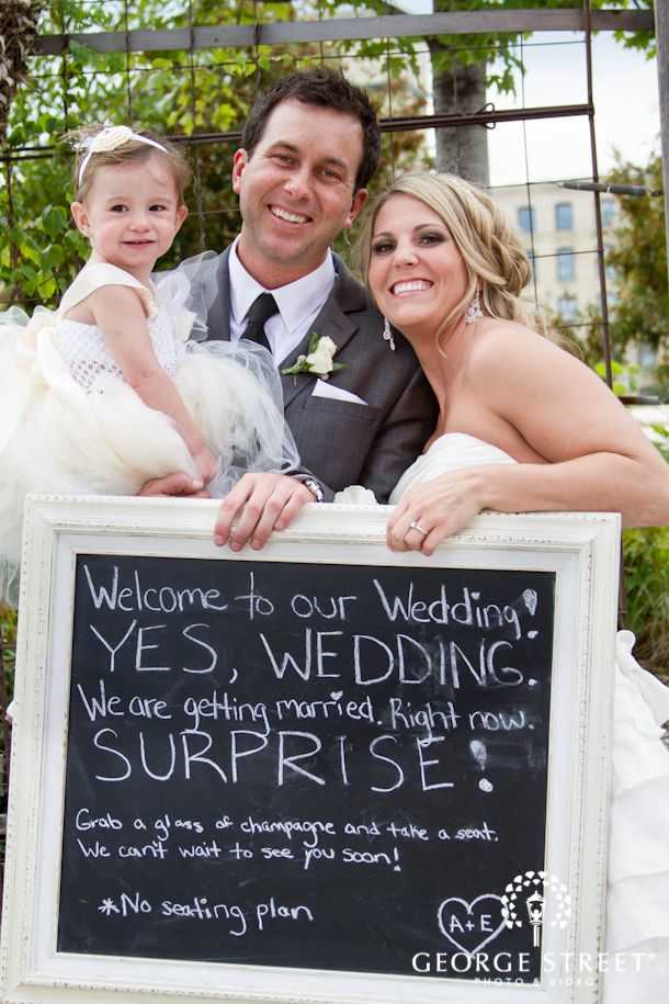 We Love That This Ventured Off The Beaten Path With Their Surprise Wedding Yes