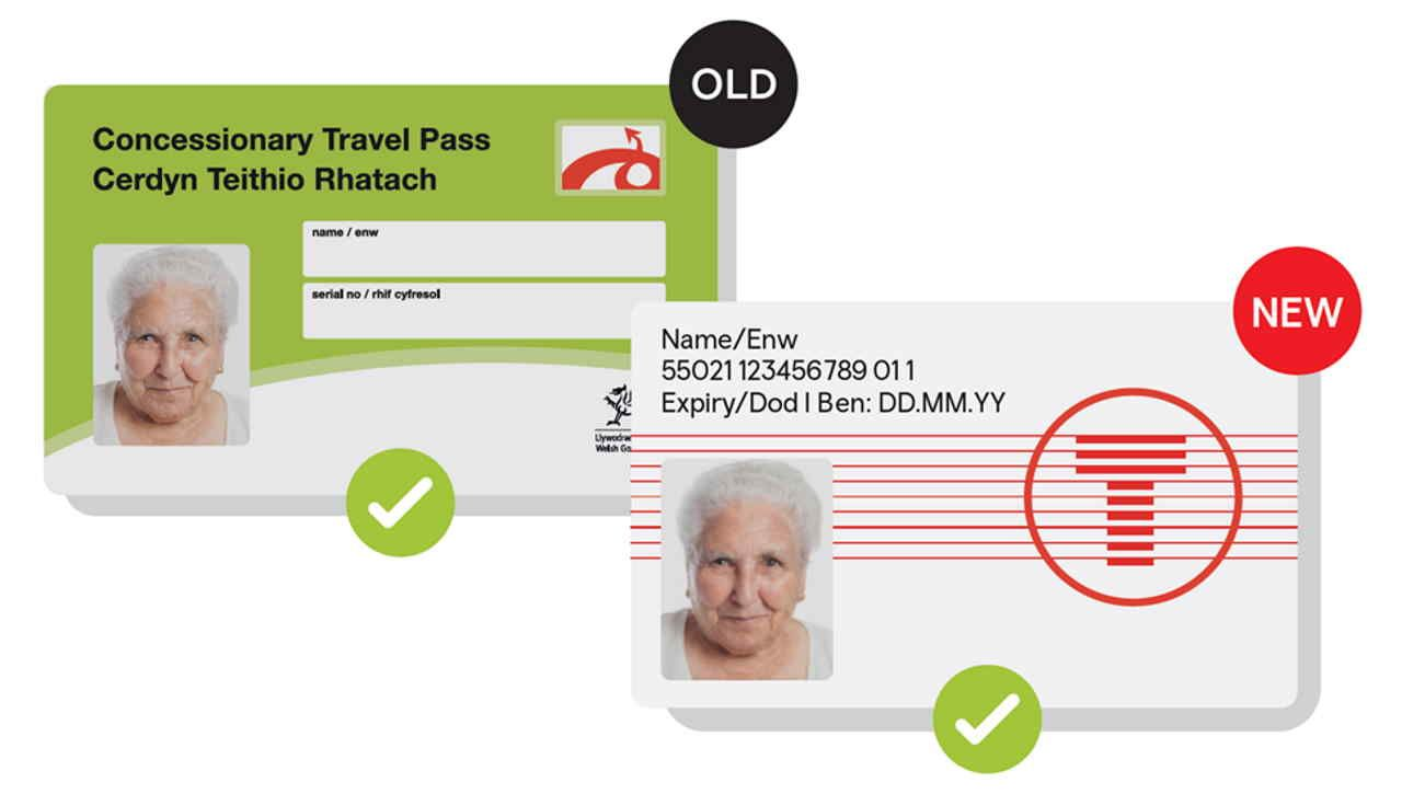 Transport For Wales Renew Over Half Million Bus Passes Bus Pass New Names Travel Cards