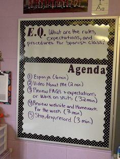 Image result for language arts agenda board