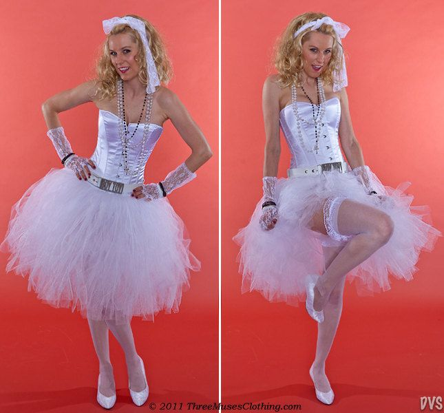 782d6cfac3d62 80s Madonna Like a Virgin Rockstar Bride Costume with all ...