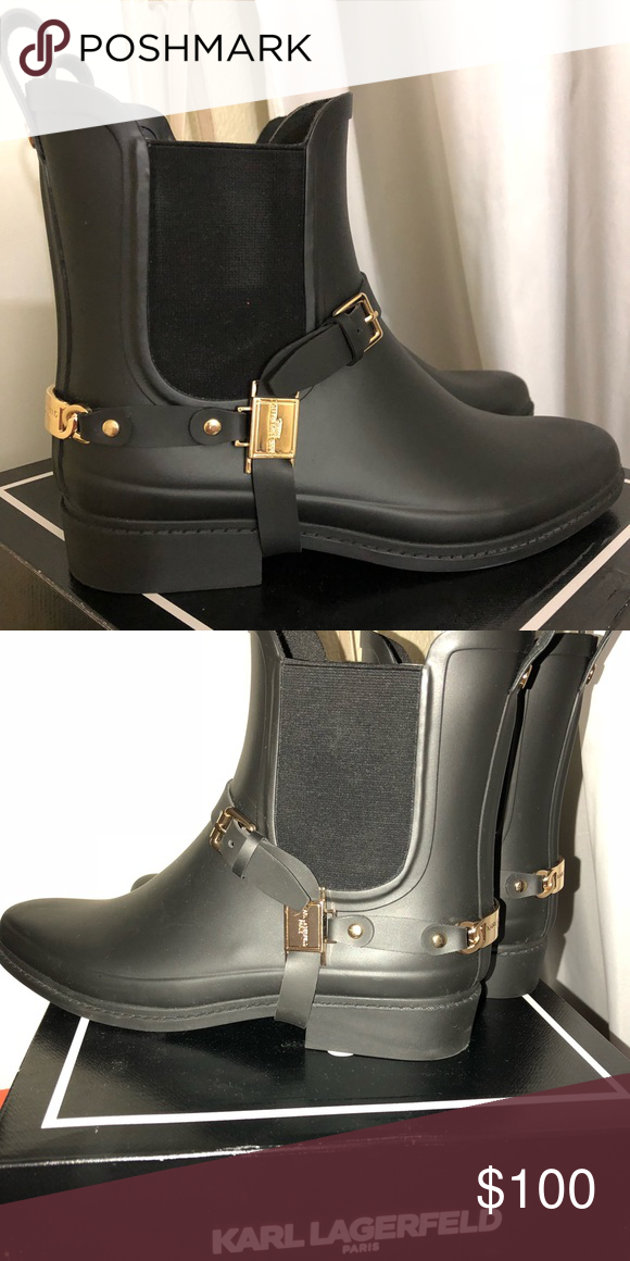 bfbd68a1b Karl Lagerfeld Shoes | Karl Lagerfeld Paris Lou Rain Boots | Color ...