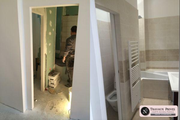 Rénovation d'une salle de bain dans le 11ème arrondissement de Paris.