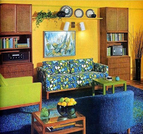 living room inspiration - 60s/70s | 70s home decor, Retro ...