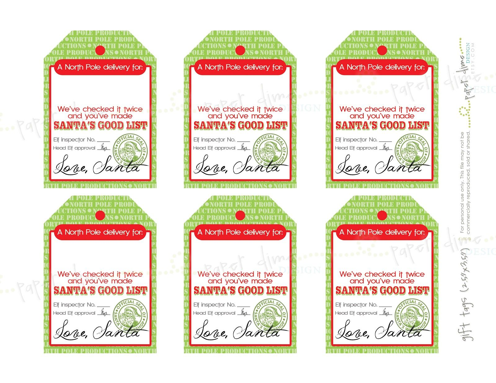 17+ Santa gift tags printable free ideas