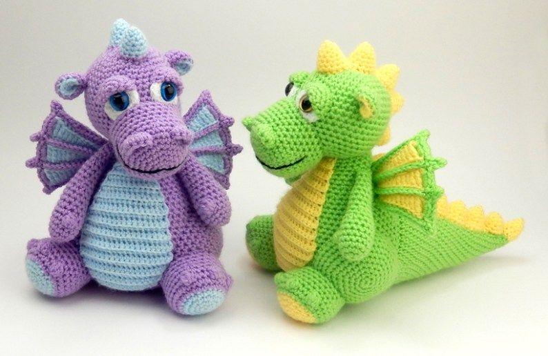 Amigurumi Dinosaur Free Pattern : Original amigurumi crochet patterns crochet dragons pinterest