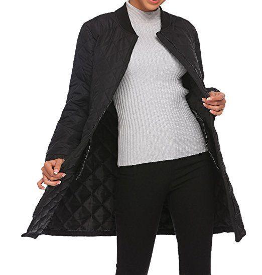 Zeela Damen Warm Mantel übergangsmantel übergangsparka Steppjacke