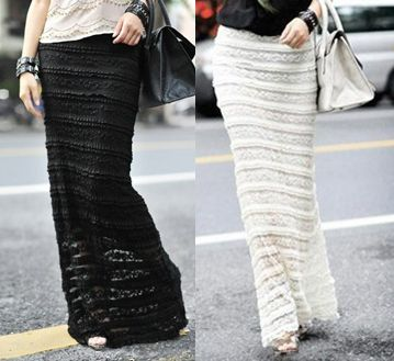 Aliexpress.com : Buy SML XL Mulheres Lace Sheer sobreposição de duas camadas Preto Marfim Bodycon Fit Maxi Skirt from Reliable saia maxi lojas suppliers on Sophaes