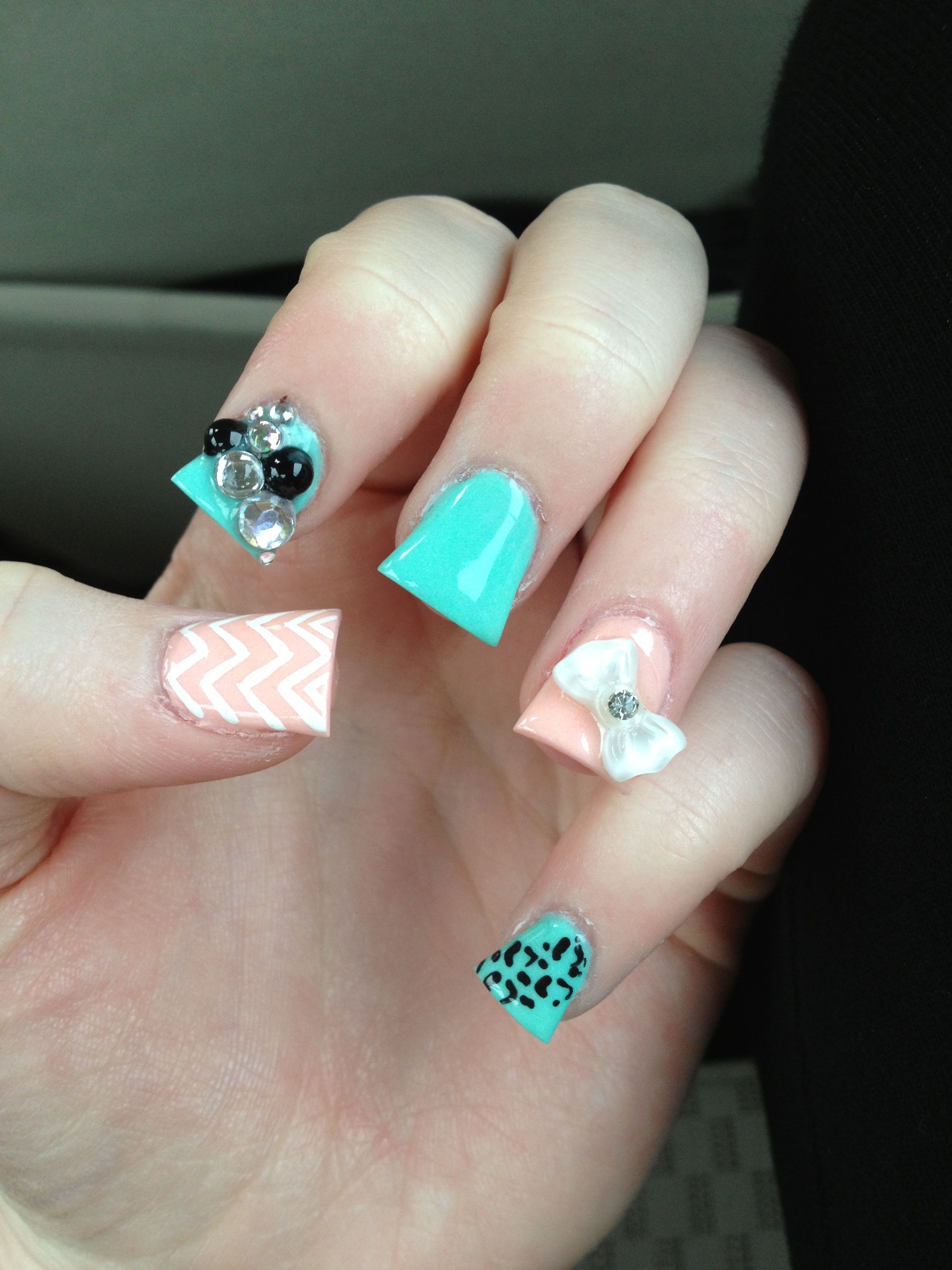 Acrylic nails I love this color but not a big fan of the fish tail ...
