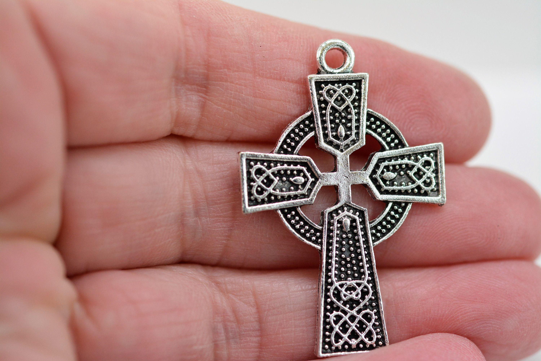 Jewelry Supplies Destash Jewelry Pendant Sterling Silver Cross Pendant
