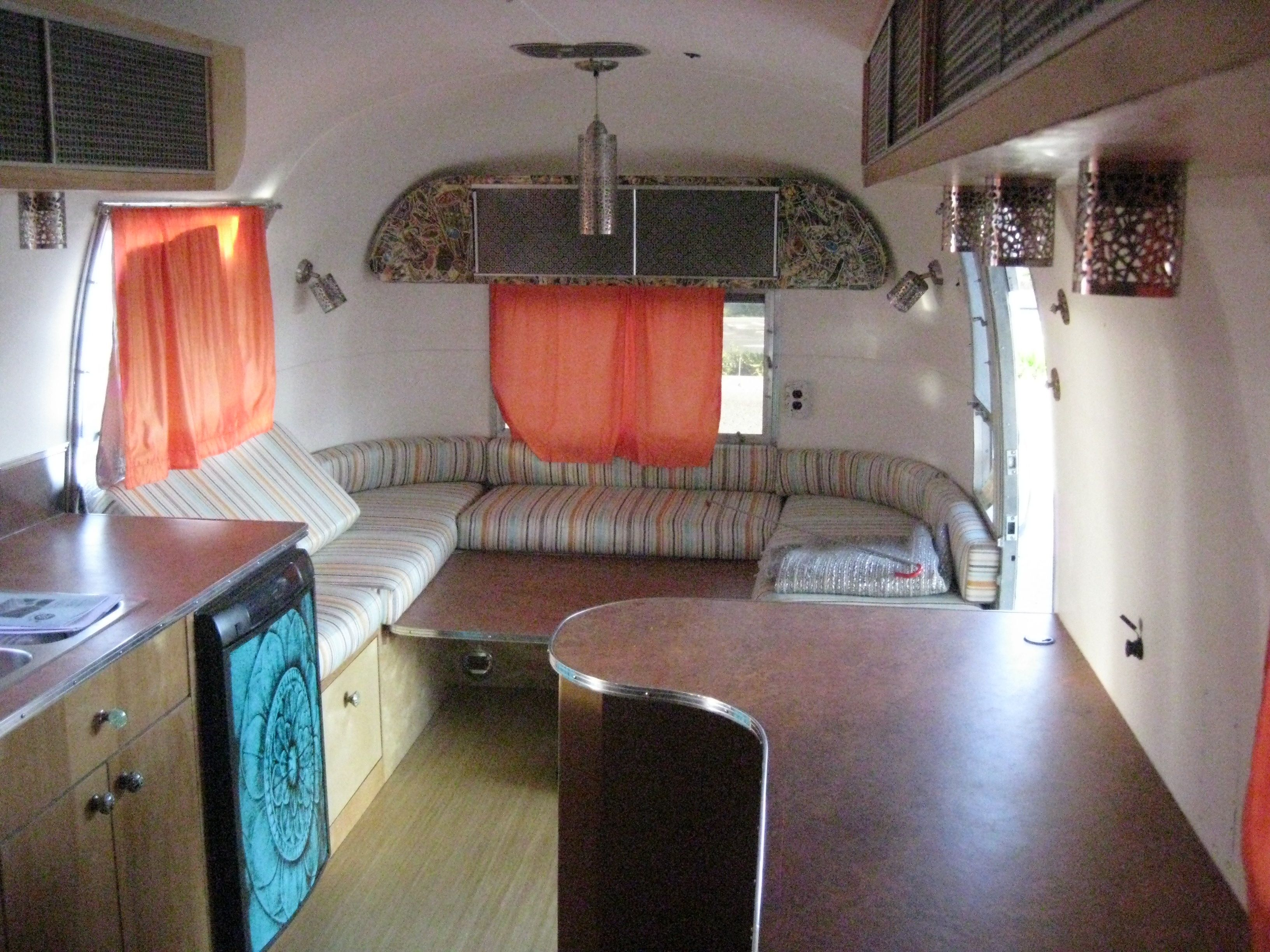 1968 Airstream Overlander we just installed a new AC unit
