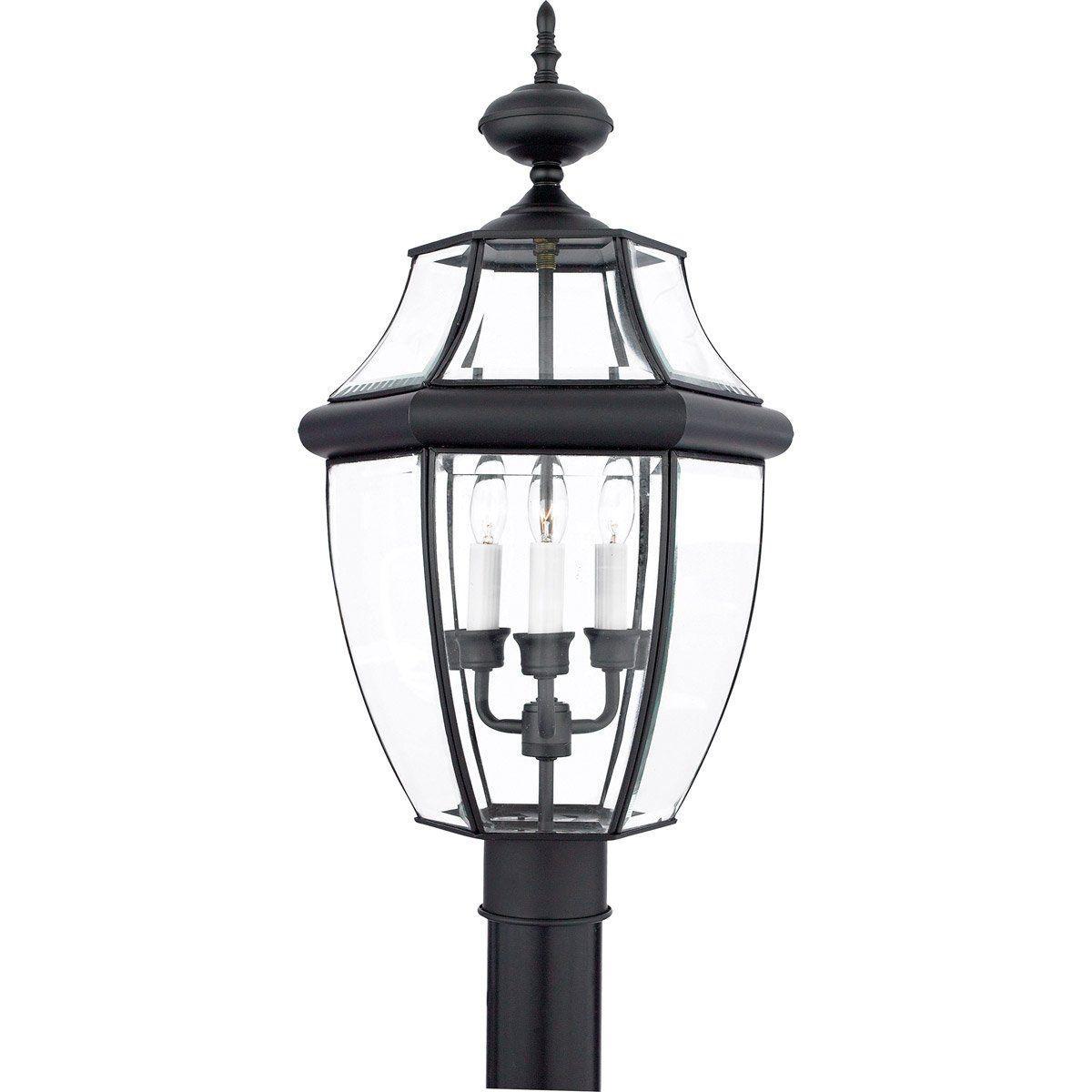 Quoizel nyk newbury light inch mystic black outdoor post