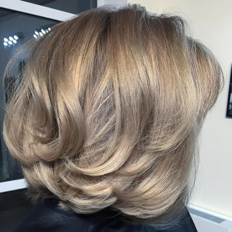 sensational medium length haircuts for thick hair blonde ombre
