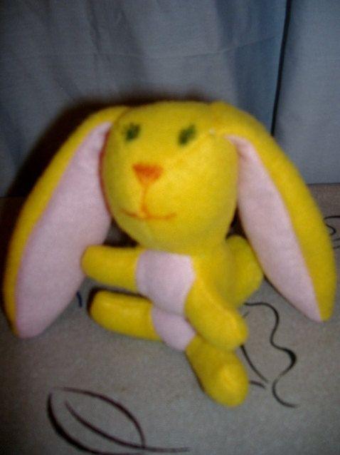 Small Handmade Stuffed Artisan Bunny Rabbit  by Cuddlesandcomfort, $10.00