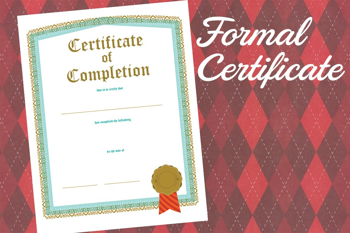 Formal Certificate of Completion | Pinterest