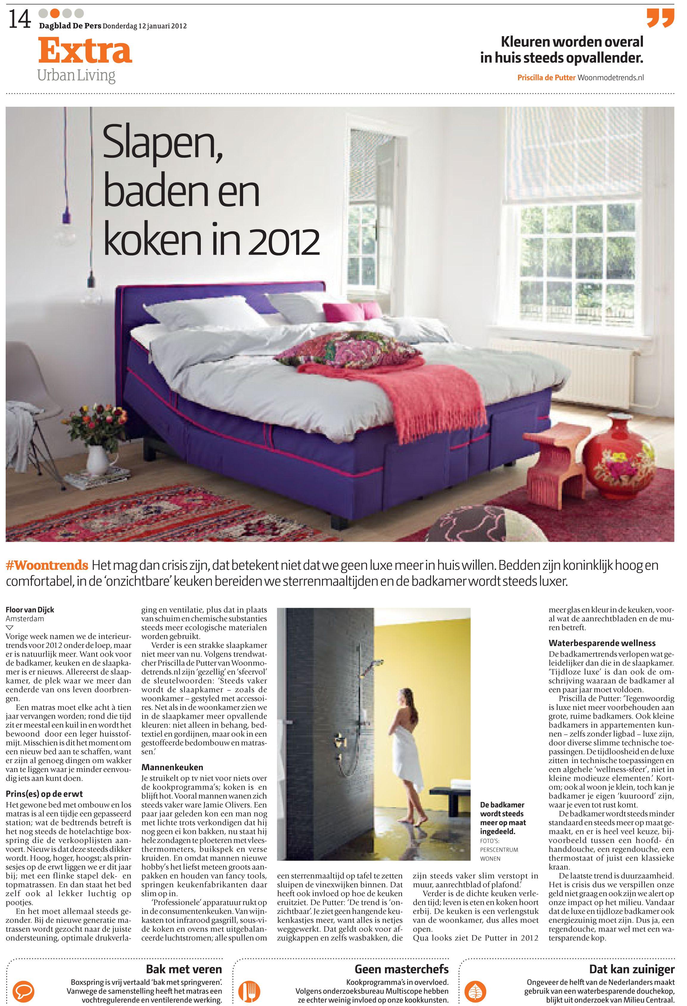 Bad ka design publicatie van woontrends  van perscentrum wonen trend forecast