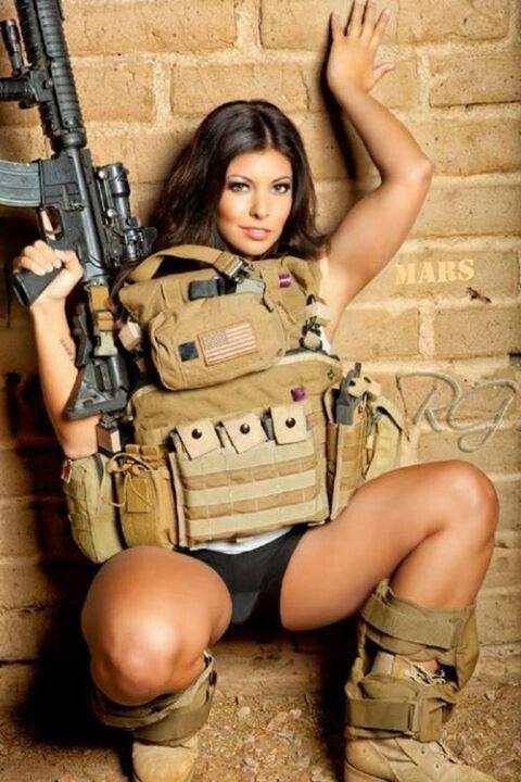 hot military girl