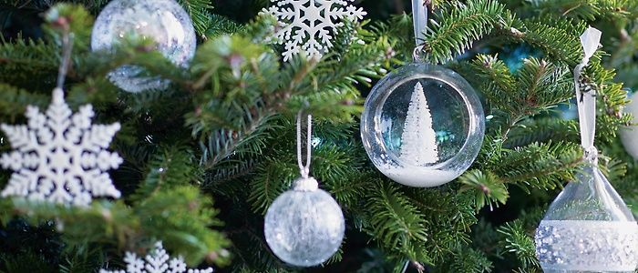 Delicate snow themed tree decorations, perfect for your ...