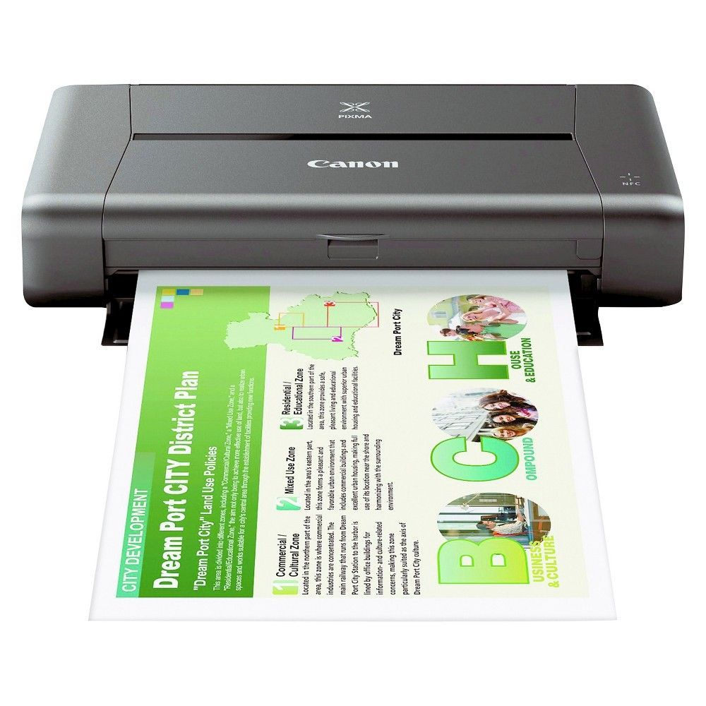Canon Pixma iP110 Color Inkjet Printer Grey (CNM9596B002