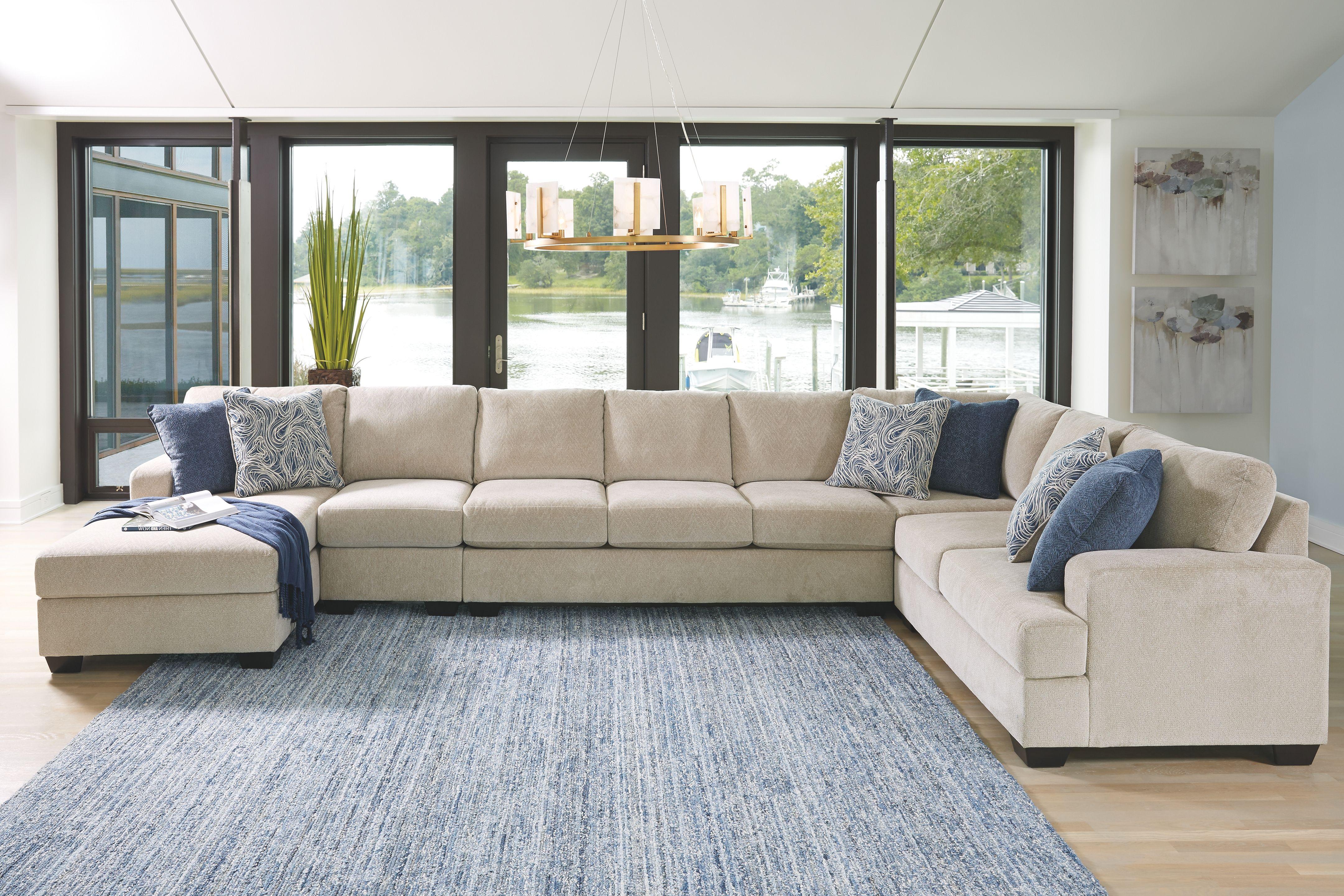 Enola 5-Piece Sectional, Sepia | Ashley furniture sofas ...