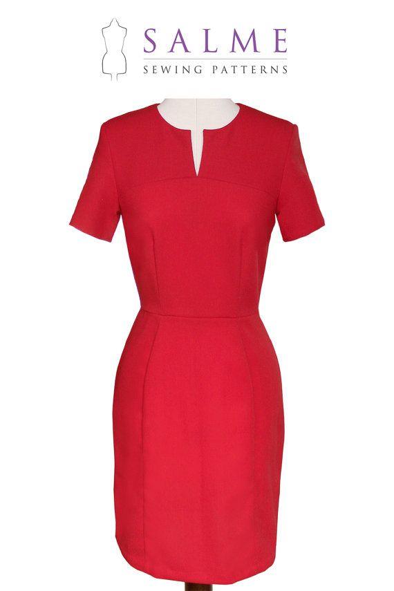 PDF Sewing pattern - Sandra Dress | Sewing | Pinterest | Frauen ...