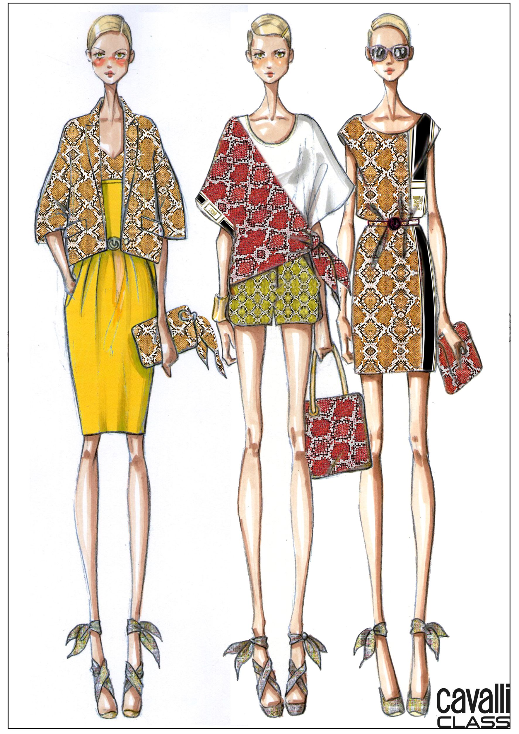 The Sketches Of The New Cavalli CLASS SS 2014 Capsule