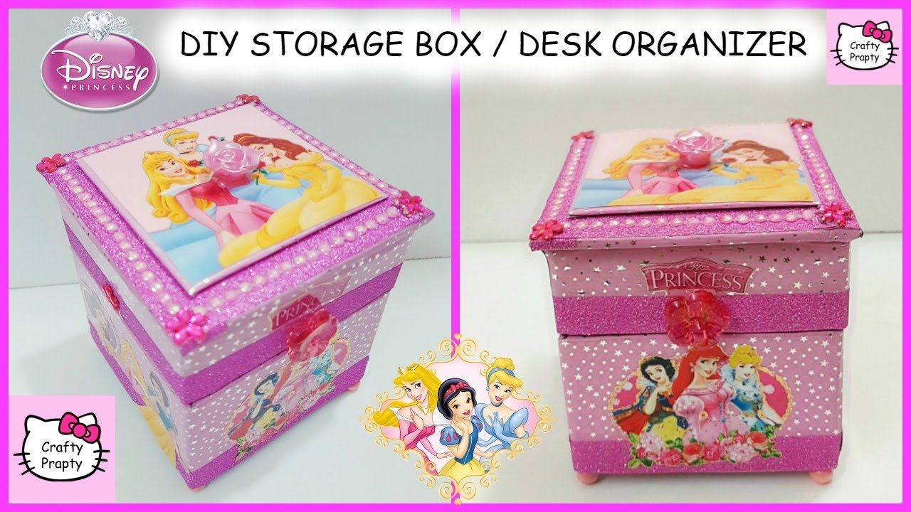 DIY Desk Organizer Storage Box Disney Princess Treasure Diy