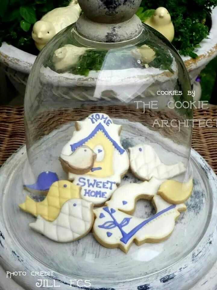 Housewarming cookies by The Cookie Architect