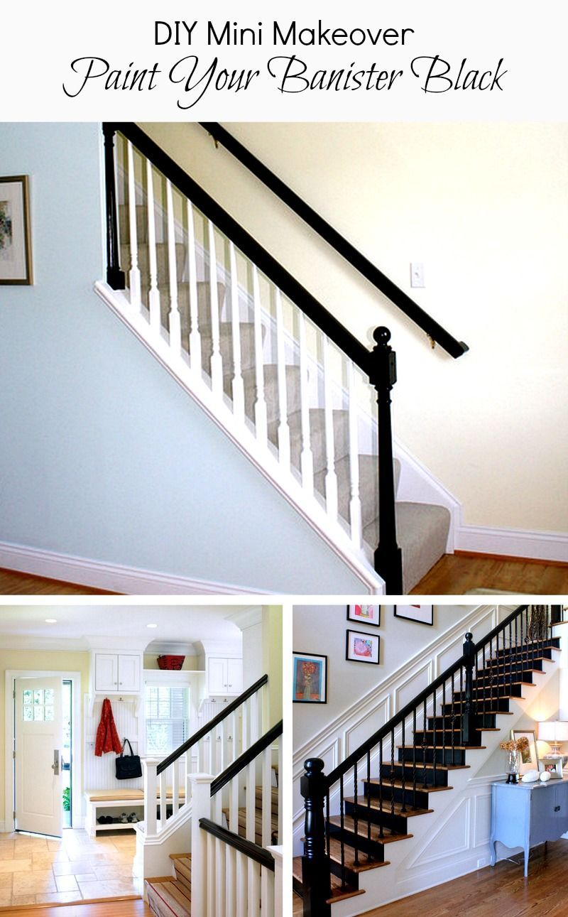 DIY Home Projects Paint your banister black for a mini