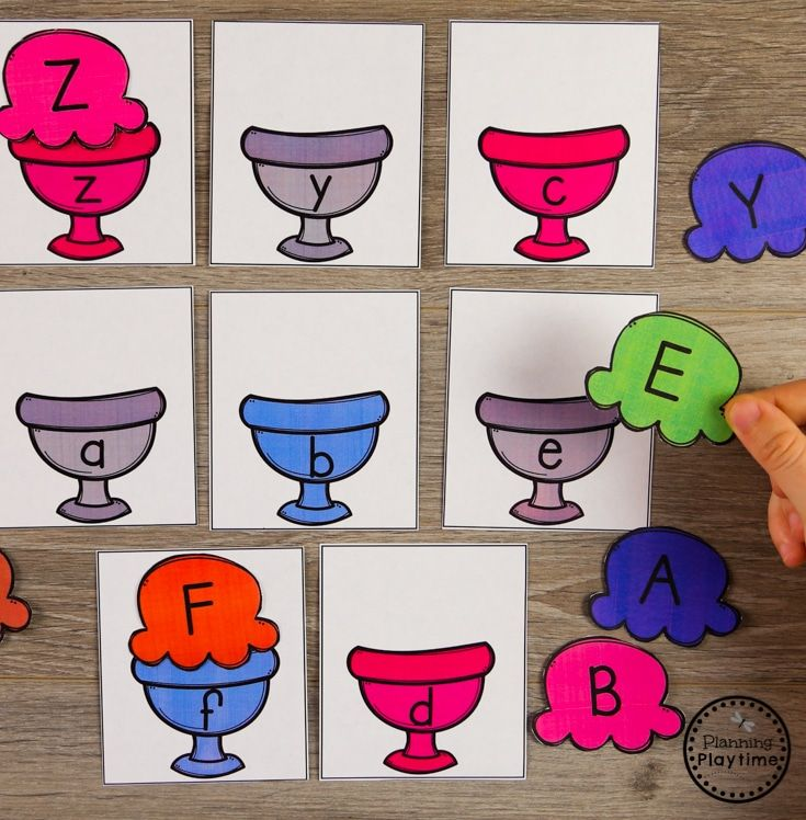 Preschool Letter Matching Puzzles