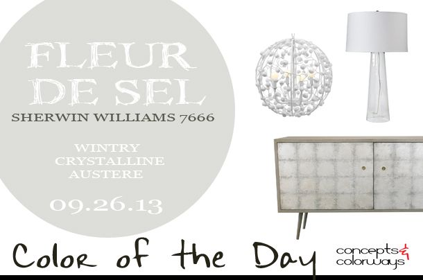 Color Of The Day Fleur De Sel Concepts And Colorways Sherwin Williams Paint Colors Paint Colors For Home