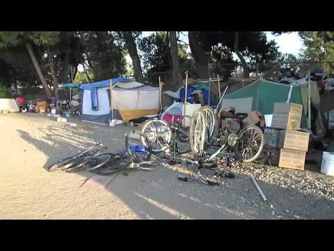 Homeless Tent City In Fullerton Ca Youtube Tent Homeless Shelter Homeless