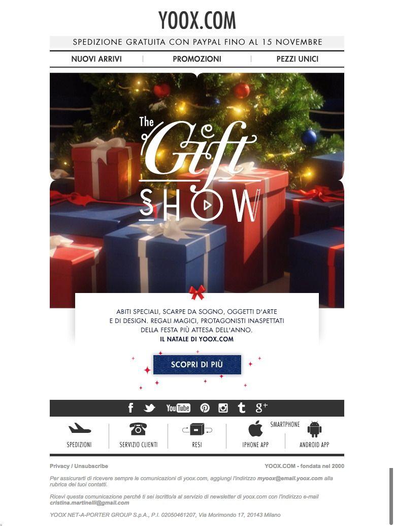 #newsletter #Christmas Yooxmas 11.2015  THE GIFT SHOW: la magia del regalo perfetto