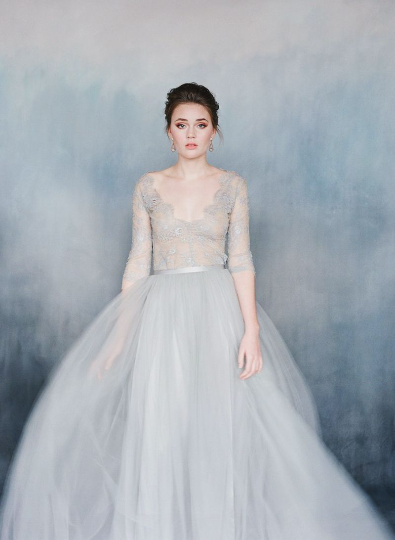 22 Effortlessly Dreamy Grey Wedding Dresses For the Romantic Bride ...