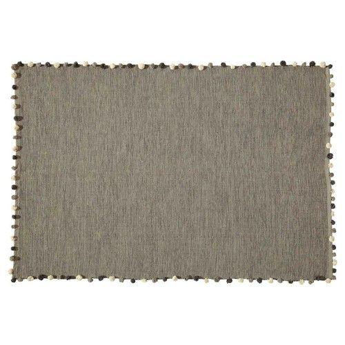 Tappeto grigio in cotone 120x180 cm Rugs, Cotton, Grey