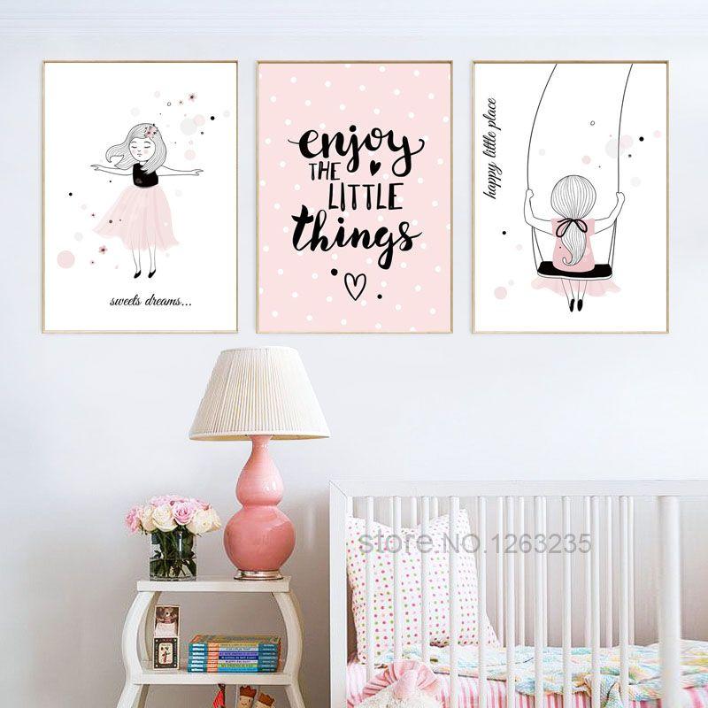 Betere Goedkope Roze Meisje Kamer Leuke Cartoon Poster Pictures Muur YR-47