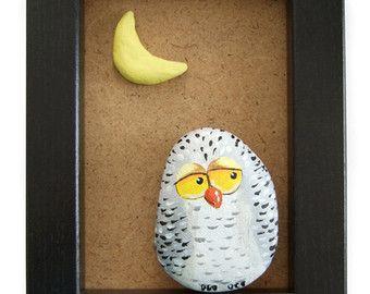 unique handpainted owl key hook home sweet home wall key holder lustige eulen bemalte. Black Bedroom Furniture Sets. Home Design Ideas