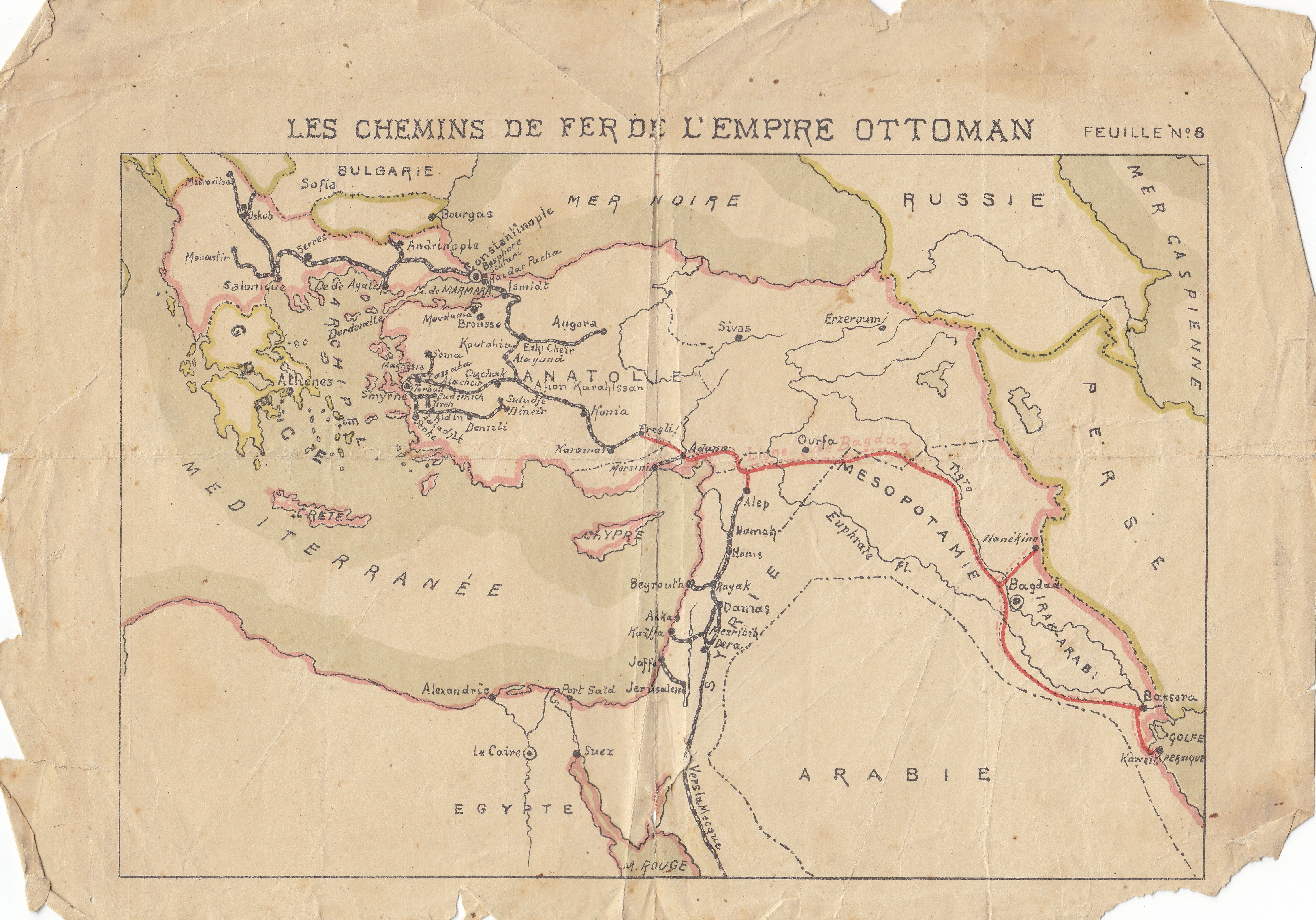 Map Of The Hejaz Railway