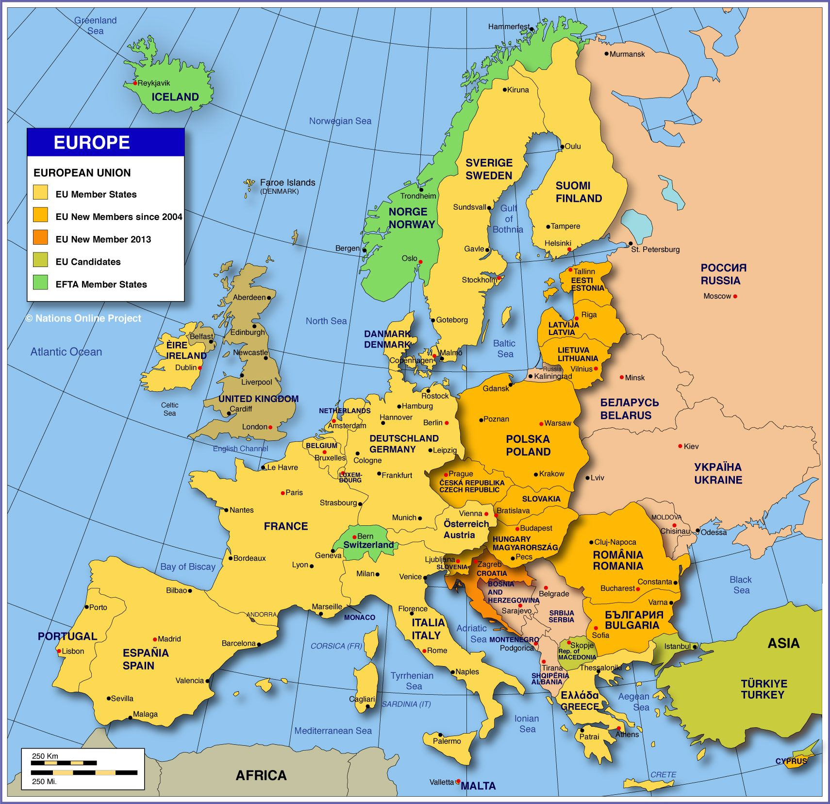 Map Of The European Union In